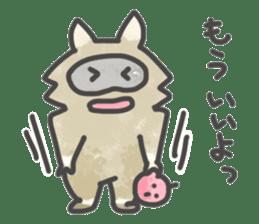 Raccoon dog TANUTAROU sticker #673458
