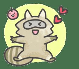 Raccoon dog TANUTAROU sticker #673460