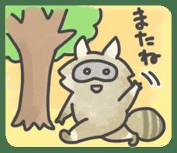 Raccoon dog TANUTAROU sticker #673463