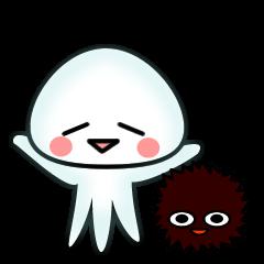 echinus and jellyfish