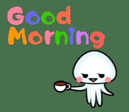 echinus and jellyfish sticker #673467
