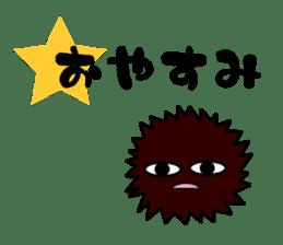 echinus and jellyfish sticker #673472