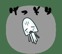 echinus and jellyfish sticker #673499