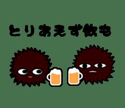 echinus and jellyfish sticker #673501