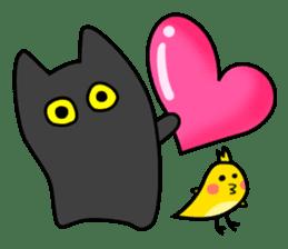 Black cat Nyarasu sticker #673588
