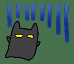 Black cat Nyarasu sticker #673598