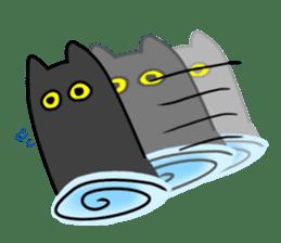 Black cat Nyarasu sticker #673600
