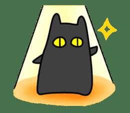 Black cat Nyarasu sticker #673604