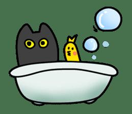 Black cat Nyarasu sticker #673605