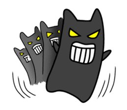 Black cat Nyarasu sticker #673606