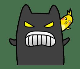 Black cat Nyarasu sticker #673607