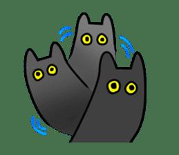 Black cat Nyarasu sticker #673608