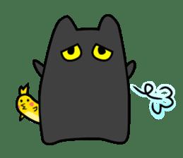 Black cat Nyarasu sticker #673609