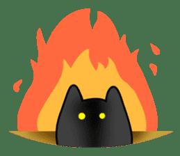 Black cat Nyarasu sticker #673613