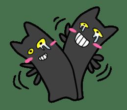 Black cat Nyarasu sticker #673614