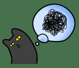Black cat Nyarasu sticker #673616