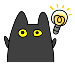 Black cat Nyarasu sticker #673617