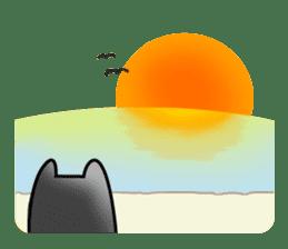 Black cat Nyarasu sticker #673619