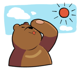 Kumanosuke in the forest sticker #675556