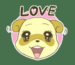 White Raccoon dog Sticker sticker #676396