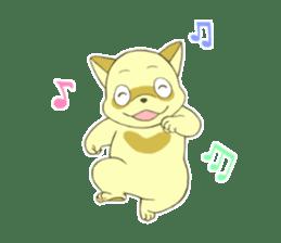 White Raccoon dog Sticker sticker #676399