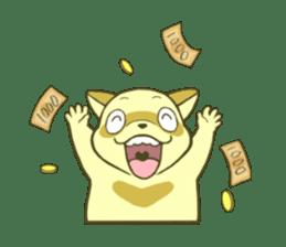 White Raccoon dog Sticker sticker #676408