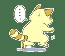 White Raccoon dog Sticker sticker #676411