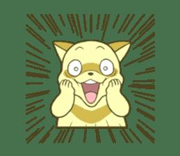 White Raccoon dog Sticker sticker #676412
