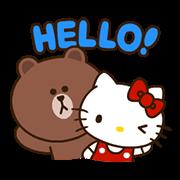 สติ๊กเกอร์ไลน์ LINE FRIENDS & HELLO KITTY Vol. 2