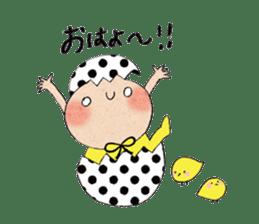 """hokkori"" Hand drawing illustrations sticker #680506"