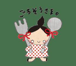 """hokkori"" Hand drawing illustrations sticker #680512"