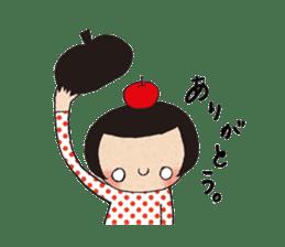 """hokkori"" Hand drawing illustrations sticker #680514"