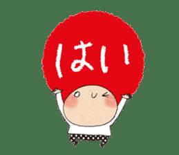 """hokkori"" Hand drawing illustrations sticker #680516"
