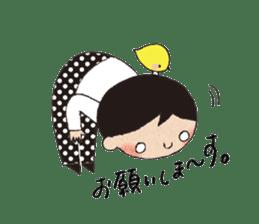 """hokkori"" Hand drawing illustrations sticker #680524"