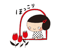 """hokkori"" Hand drawing illustrations sticker #680528"