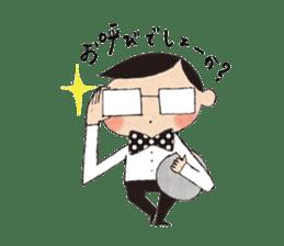 """hokkori"" Hand drawing illustrations sticker #680532"