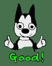 Abbey, the Boston terrier sticker #682009