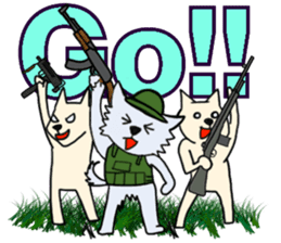 Wolf which a survival game likes sticker #682558