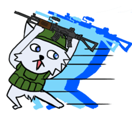 Wolf which a survival game likes sticker #682564