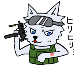 Wolf which a survival game likes sticker #682567