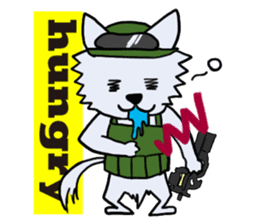 Wolf which a survival game likes sticker #682570