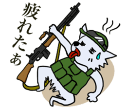 Wolf which a survival game likes sticker #682574