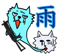 Wolf which a survival game likes sticker #682578