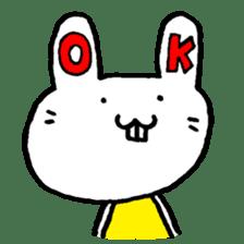 Smile rabbit sticker #685138