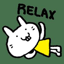 Smile rabbit sticker #685141