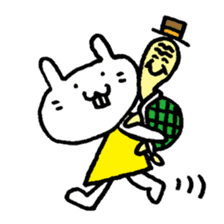 Smile rabbit sticker #685145