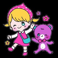 GIRL&BEAR  cheerful STICKER