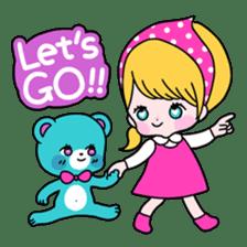 GIRL&BEAR  cheerful STICKER sticker #685297