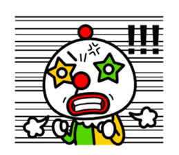 Red nose and one eyebrow circus sticker #685627