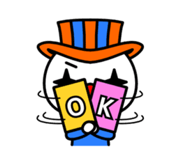 Red nose and one eyebrow circus sticker #685628